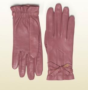 Gucci guantes de piel