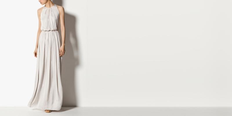 Massimo Dutti vestido cuello halter  99,95 eur