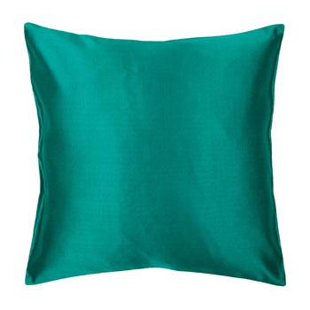 Zara Home Cojín seda y lino verde