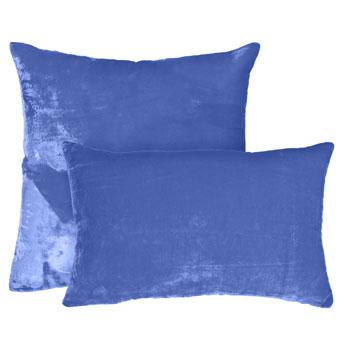 Zara Home Cojín Velvet azul