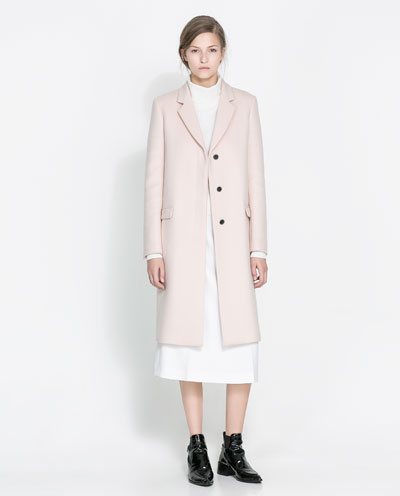 Zara: abrigo de corte masculino